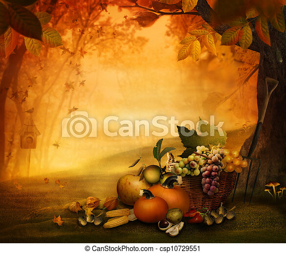 Autumn design - Season fruit - csp10729551