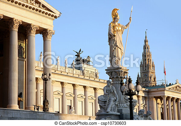 The Austrian Parliament in Vienna, Austria - csp10730603