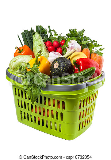Vegetable Groceries in Shopping Basket - csp10732054