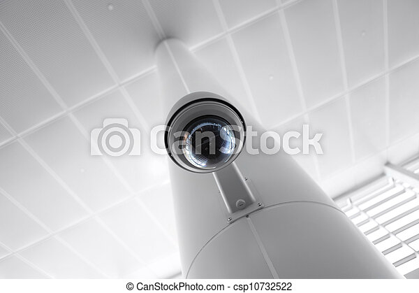 Security Camera in Government Owned Building - csp10732522