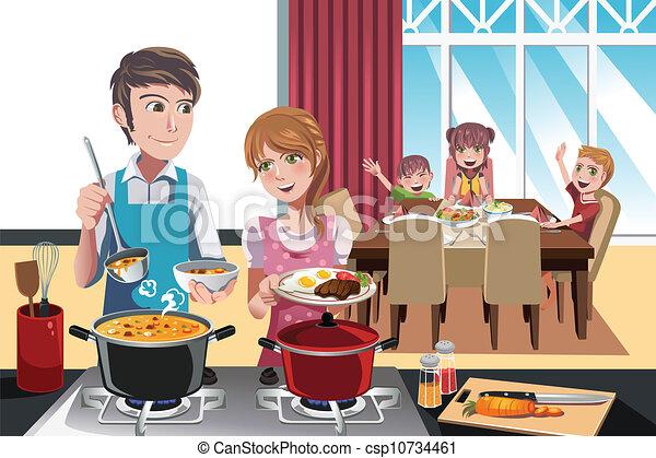 Family dinner - csp10734461