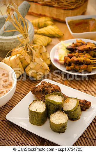 malay hari raya foods  lemang - csp10734725