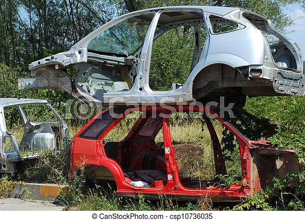 Automobile morgue cars - csp10736035