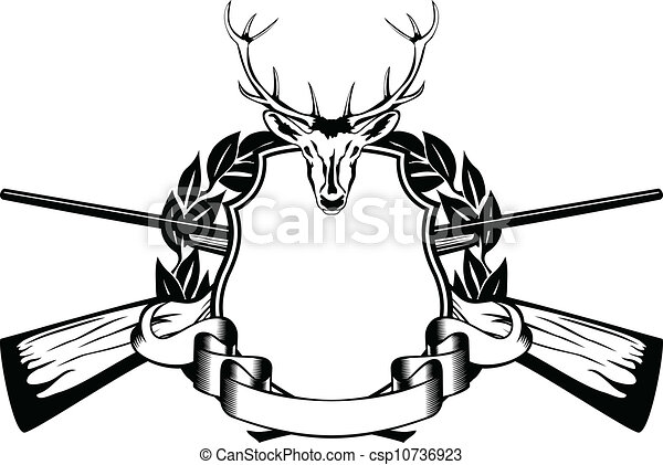 Illustration vecteur de cadre th me chasse vecteur - Dessin de chasse ...