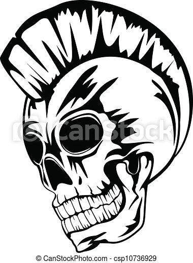 Vecteur - crâne, punk - Banque d'illustrations, illustrations libres