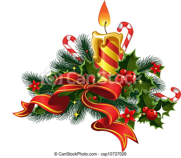 light 1 - Christmas candle light with... csp10737026 - Search Clipart ...