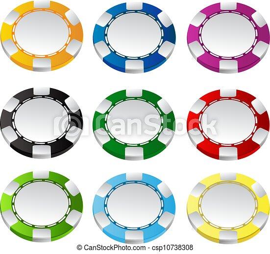 Gambling chips vector set 1 - csp10738308