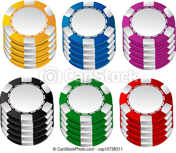 Gambling chips vector set 2 - csp10738311