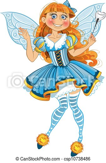 Tooth fairy Vector Clipart Royalty Free. 794 Tooth fairy clip art ...