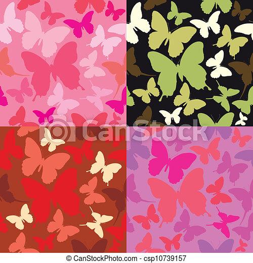 Clipart vettoriali di sfondi farfalle siluet estratto for Sfondi farfalle gratis