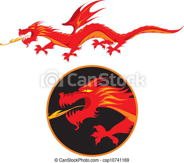 Red dragon wings Vector Clip Art Illustrations. 350 Red dragon ...