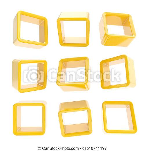stock illustration copyspace w rfel quadrat regal k sten freigestellt stock. Black Bedroom Furniture Sets. Home Design Ideas