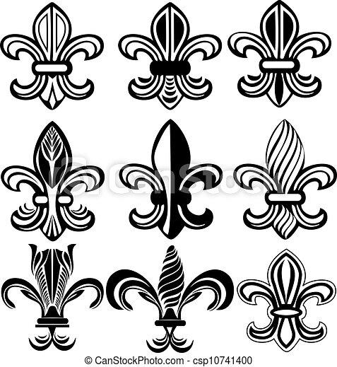 how to draw the fleur de lis easy