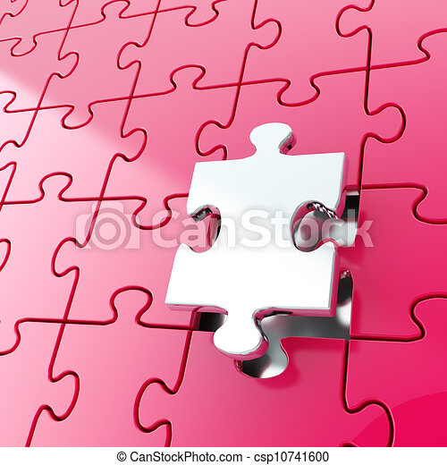 Stock Illustration of Puzzle jigsaw background with one ... - photo #17