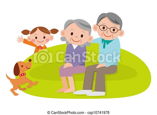 Grandchild Clipart and Stock Illustrations. 409 Grandchild vector ...