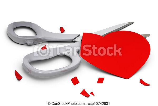 dessins de coeur relation cutted sur gris parties fond ennui csp10742831 recherchez. Black Bedroom Furniture Sets. Home Design Ideas