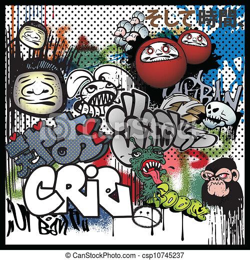 graffiti urban art elements - csp10745237