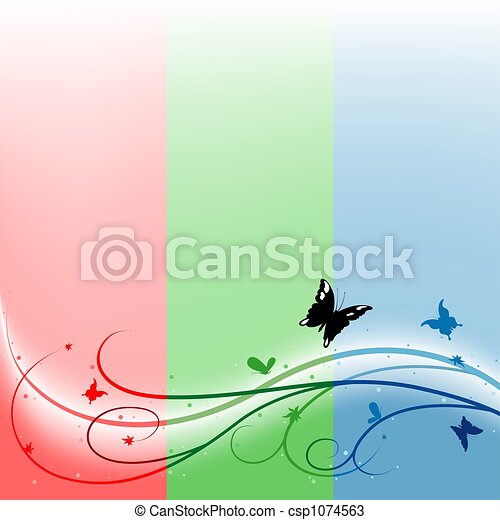 Multicolored Spring Flora - csp1074563