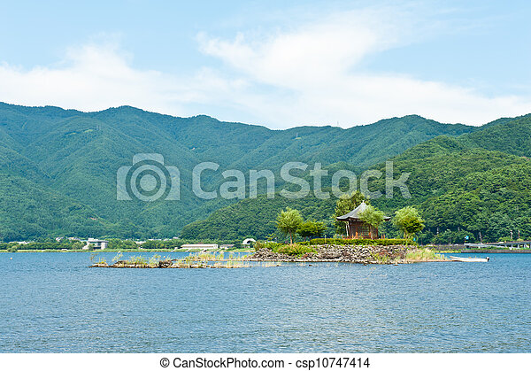 Gazebo in the lake - csp10747414