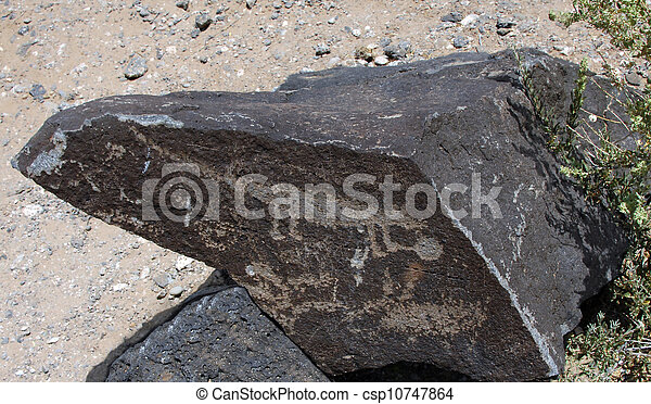 Animal Petroglyph - csp10747864
