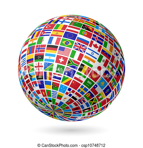 Flags globe - csp10748712