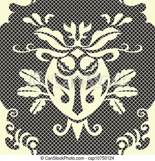 Beautiful vector seamless damask pattern - csp10750124