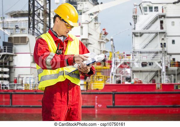 säkerhet, tjänsteman - csp10750161