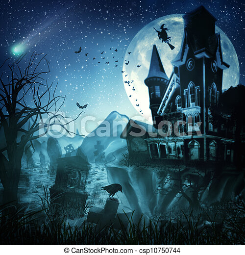 Abstract Halloween backgrounds for your design - csp10750744