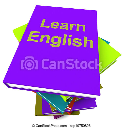 Learn English Book For Studying A Language - csp10750826