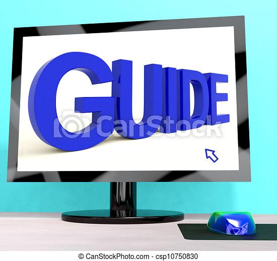 entrenamiento, palabra, dirección, o, computadora, guía, exposiciones - csp10750830