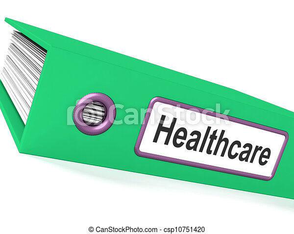 Clip Art of Healthcare File Showing Health Care Documents ...
