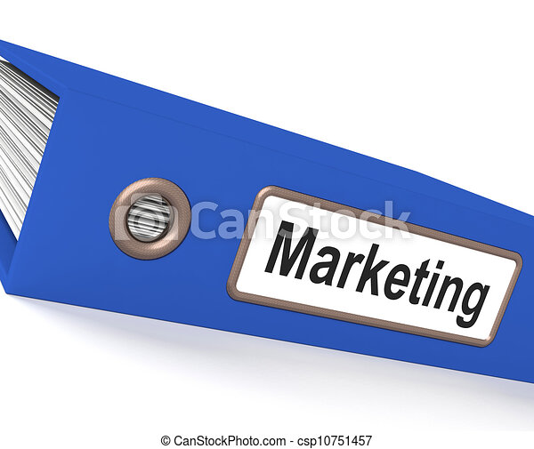 Marketing File Shows Sales And Advertising - Royalty Free ...
