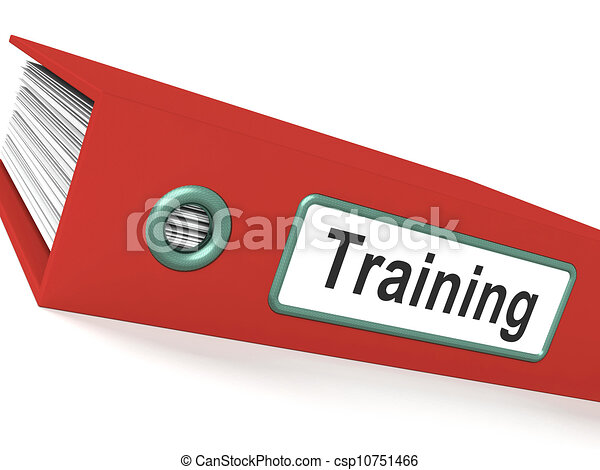 Training File Shows Education And Development - csp10751466