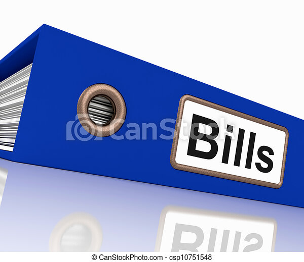 Bills File Shows Accounting And Payments Due - csp10751548