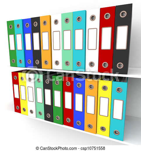 Stock Illustrations of Shelves Of Files For Getting Office ...