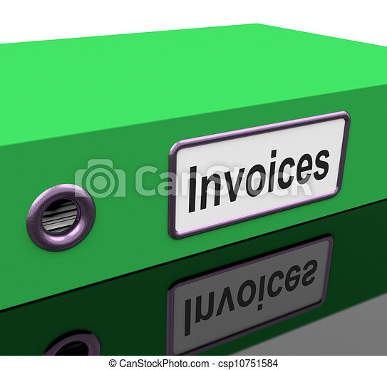 Invoices File Show Accounting And Expenses - csp10751584