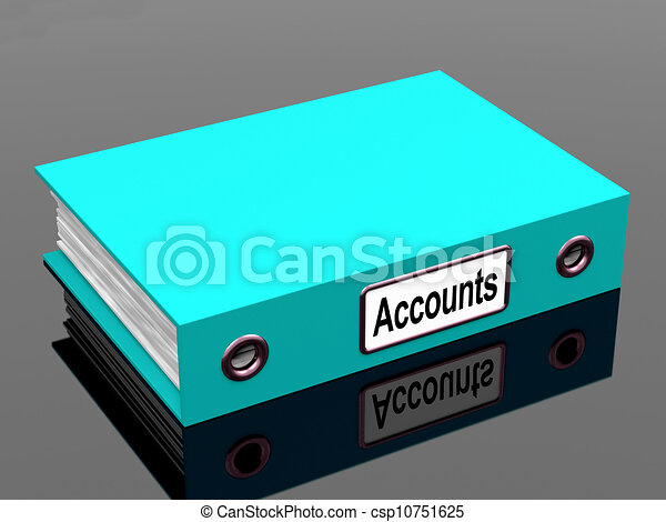 Accounts File Shows Accounting Profit And Expenses - csp10751625