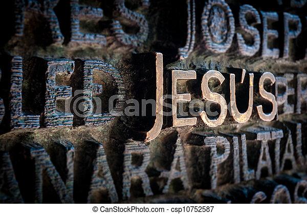 parede, escrito, cathedral., nome, jesus - csp10752587