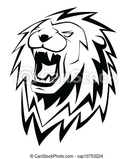 illustrazioni vettoriali di ruggito leone leone. Black Bedroom Furniture Sets. Home Design Ideas