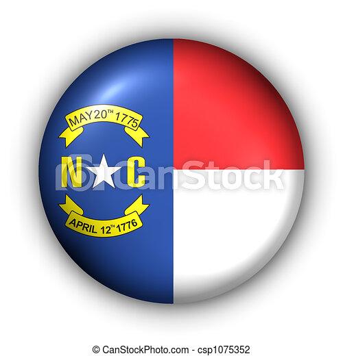 Round Button USA State Flag of North Carolina - csp1075352