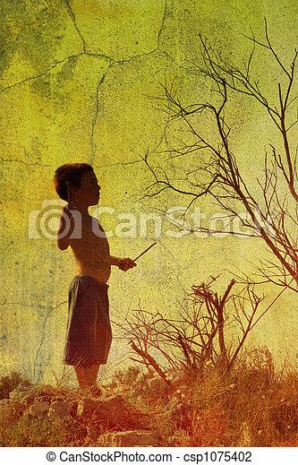 Child in nature - csp1075402