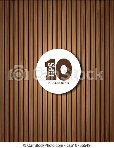 Vector wooden background with place for your text. Eps 10 - csp10755549