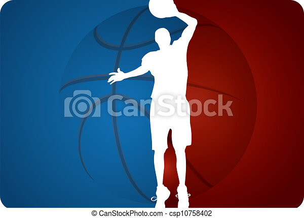 Basketball background - vector illustration - csp10758402
