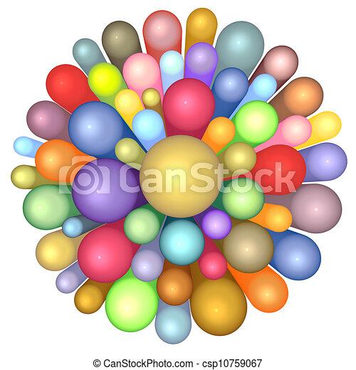Multiple Flower Drawings 3d Radiant Flower Pattern in