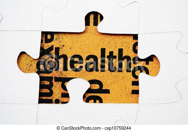 Health puzzle concept - csp10759244