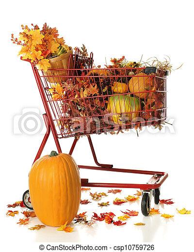 Full Cart of Fall Color - csp10759726