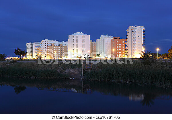 Residential buildings in Guardamar del Segura, Spain - csp10761705