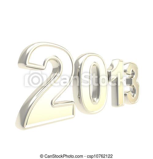 """""""2013"""", cromo, mil, dos, plata, trece, año, símbolo - csp10762122"""