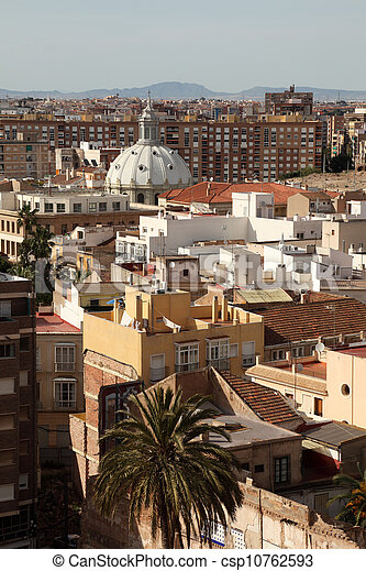 View over the city of Cartagena, Spain - csp10762593