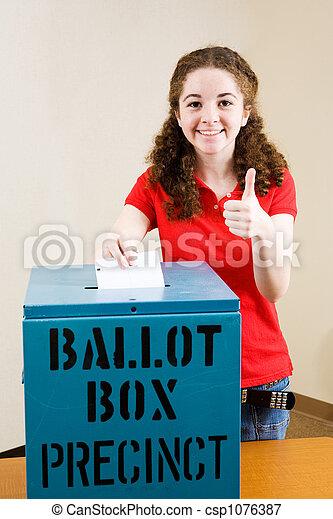 -, 選民,  thumbsup, 選舉, 年輕 - csp1076387